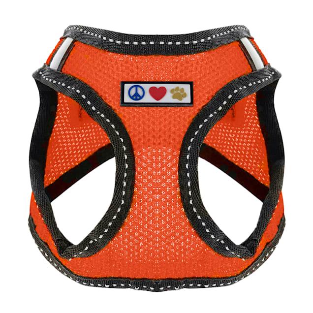 Pawtitas Orange Reflective Dog Harness, XX-Small - Carousel image #1
