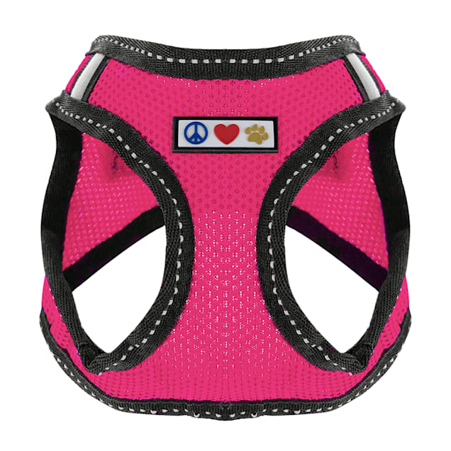 Pawtitas Pink Reflective Dog Harness, XX-Small - Carousel image #1