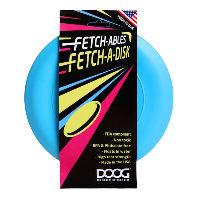 DOOG Blue Fetch A Disk Dog Toy, Medium - Carousel image #1