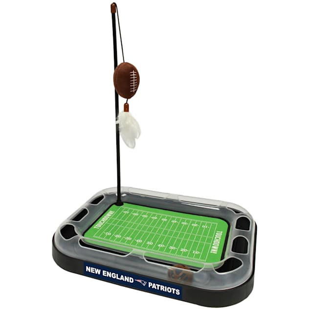 "Pets First New England Patriots Football Field Cat Scratcher, 14"" L X 11"" W X 2"" H - Carousel image #1"