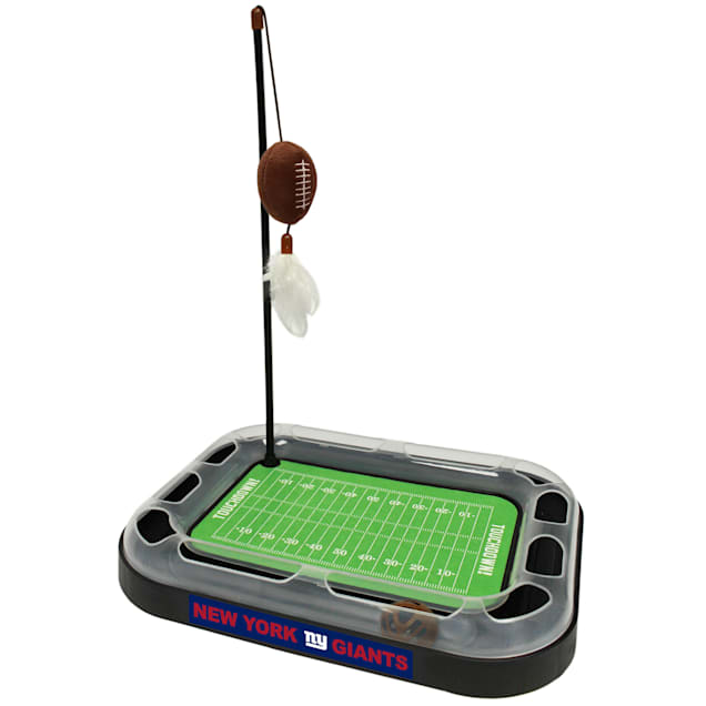 "Pets First New York Giants Footbal Field Cat Scratcher, 14"" L X 11"" W X 2"" H - Carousel image #1"