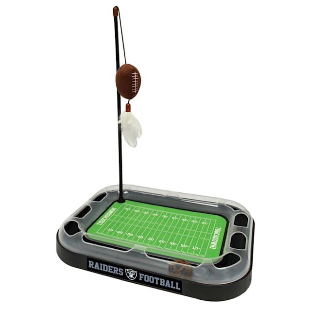 "Pets First Raiders Football Field Cat Scratcher, 14"" L X 11"" W X 2"" H - Carousel image #1"