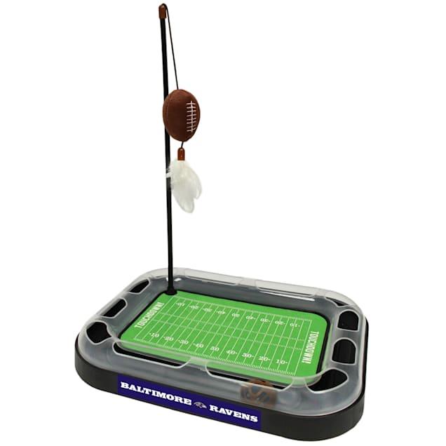 "Pets First Baltimore Ravens Football Field Cat Scratcher, 14"" L X 11"" W X 2"" H - Carousel image #1"
