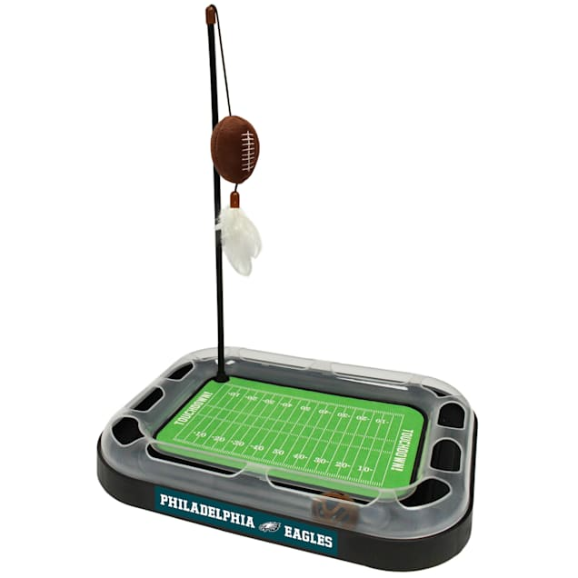 "Pets First Philadelphia Eagles Football Field Cat Scratcher, 14"" L X 11"" W X 2"" H - Carousel image #1"