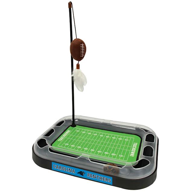 "Pets First Carolina Panthers Football Field Cat Scratcher, 14"" L X 11"" W X 2"" H - Carousel image #1"