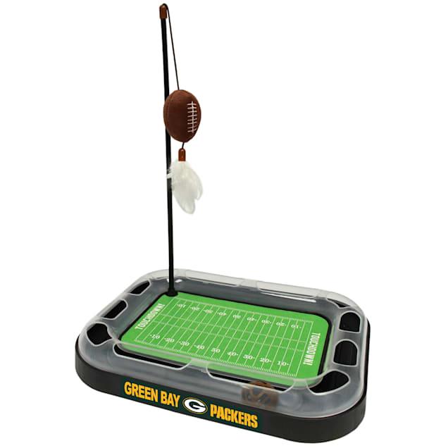 "Pets First Green Bay Packers Football Field Cat Scratcher, 14"" L X 11"" W X 2"" H - Carousel image #1"