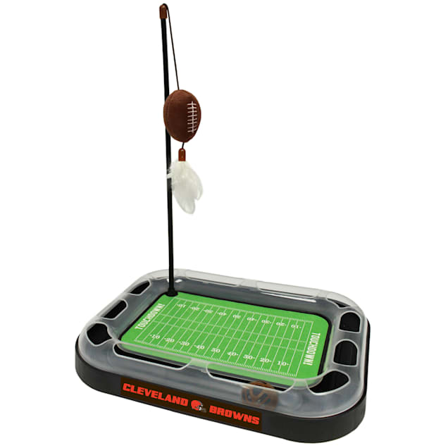 "Pets First Cleveland Browns Football Field Cat Scratcher, 14"" L X 11"" W X 2"" H - Carousel image #1"