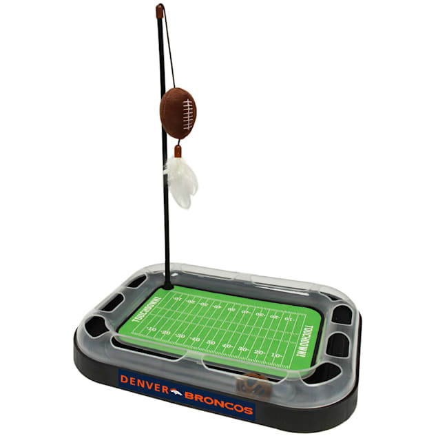 "Pets First Denver Broncos Football Field Cat Scratcher, 14"" L X 11"" W X 2"" H - Carousel image #1"