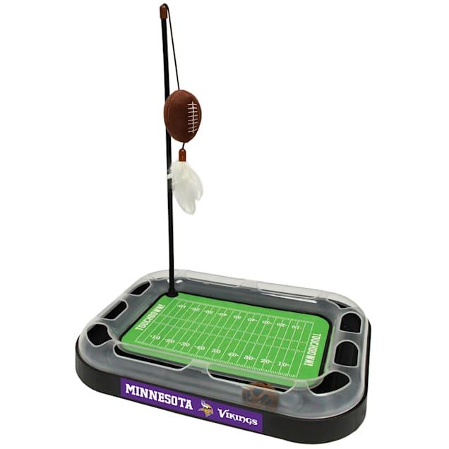 """Pets First Minnesota Vikings Footbal Field Cat Scratcher, 14"""" L X 11"""" W X 2"""" H - Carousel image #1"""
