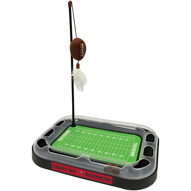 """Pets First Tampa Bay Buccaneers Football Field Cat Scratcher, 14"""" L X 11"""" W X 2"""" H - Carousel image #1"""