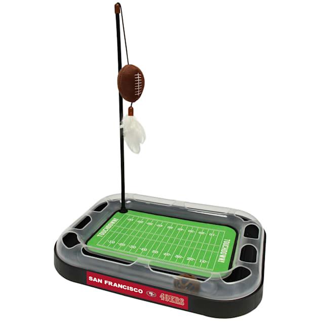 "Pets First San Francisco 49Ers Football Field Cat Scratcher, 14"" L X 11"" W X 2"" H - Carousel image #1"