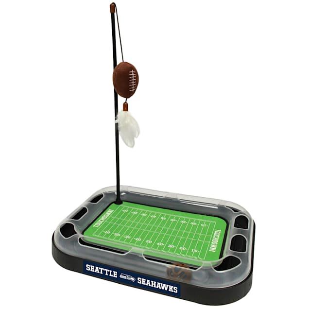 "Pets First Seattle Seahawks Football Field Cat Scratcher, 14"" L X 11"" W X 2"" H - Carousel image #1"