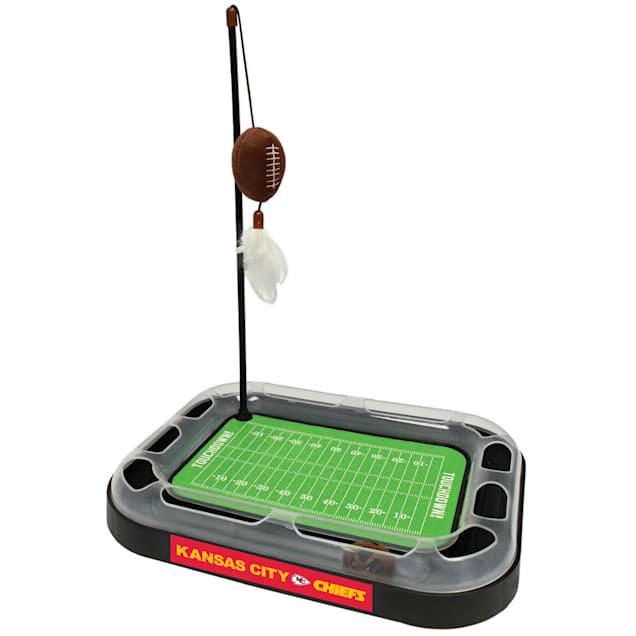 """Pets First Kansas City Chiefs Football Field Cat Scratcher, 14"""" L X 11"""" W X 2"""" H - Carousel image #1"""