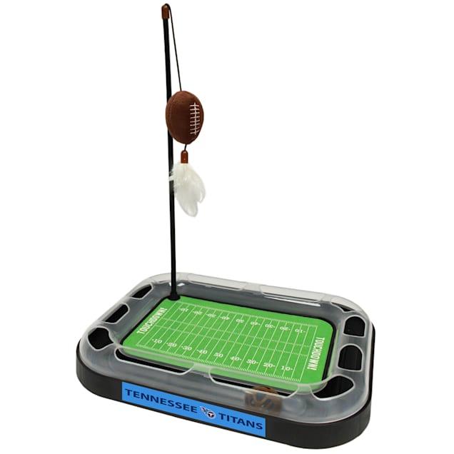 "Pets First Tennessee Titans Football Field Cat Scratcher, 14"" L X 11"" W X 2"" H - Carousel image #1"