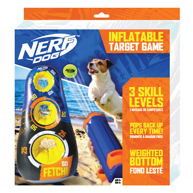 Nerf Inflatable 3-Target Game Dog Toy, 3X-Large - Carousel image #1