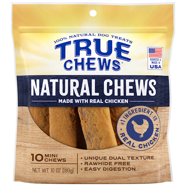 True Chews Natural Mini Chicken for Dogs, 10 oz., Count of 10 - Carousel image #1
