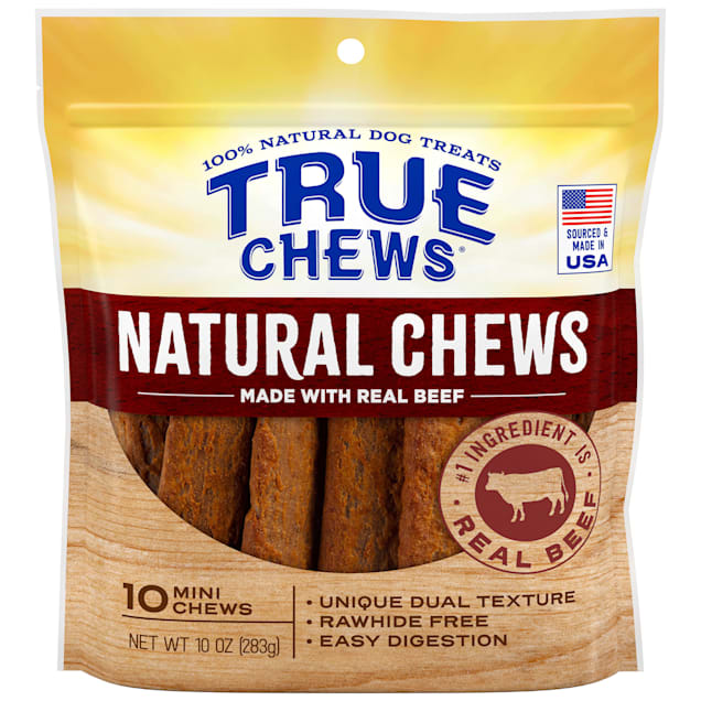 True Chews Natural Mini Beef for Dogs, 10 oz., Count of 10 - Carousel image #1