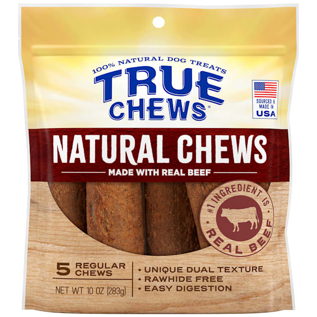 True Chews Natural Regular Beef for Dogs, 10 oz., Count of 5 - Carousel image #1