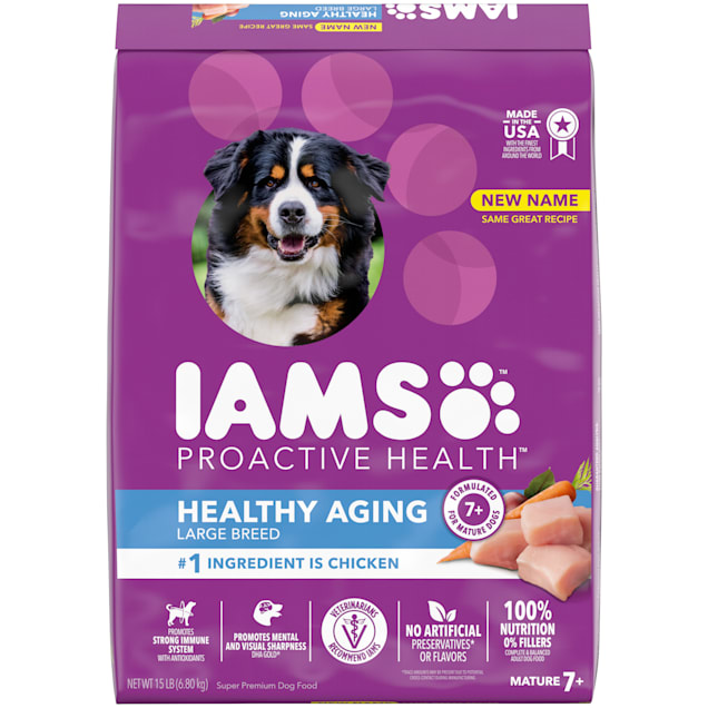 Iams ProActive Health with Real Chicken, Mature Adult Large Breed Dry Dog Food, 15 lbs. - Carousel image #1