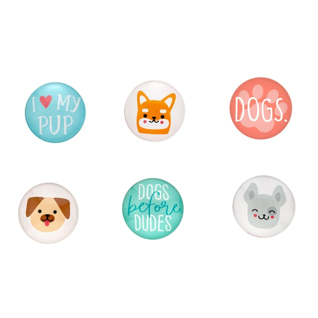 Pearhead Pet Dog Graphic Magnets for Refrigerator, Pack of 6 - Carousel image #1