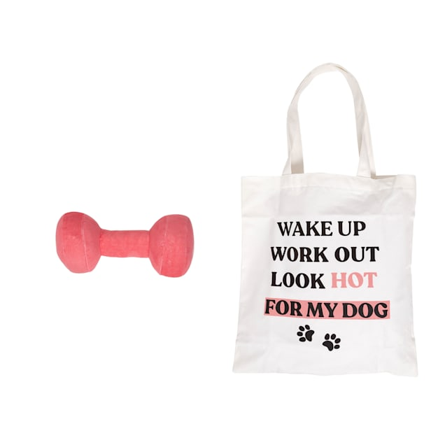 Pearhead Pet Tote Bag and Dumbbell Dog Toy Set - Carousel image #1