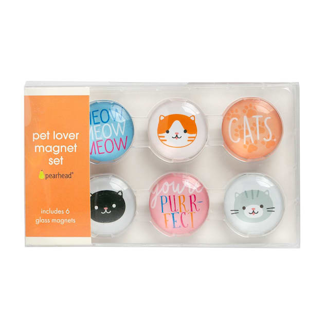 Pearhead Pet Cat Graphic Magnets for Refrigerator, Pack of 6 - Carousel image #1