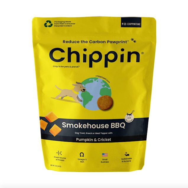 Chippin Smokehouse BBQ Pumpkin & Cricket Crunchy Dog Treats, 5 oz. - Carousel image #1