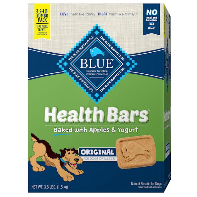Blue Buffalo Health Bars Baked with Apple & Yogurt Natural Crunchy Dog Treats, 56 oz. - Carousel image #1