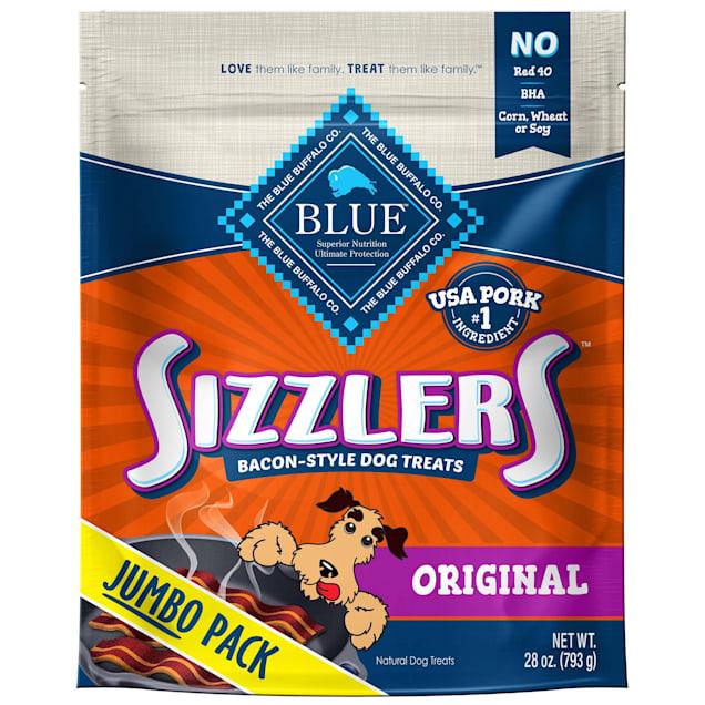 Blue Buffalo Sizzlers Bacon-Style Original Pork Natural  Soft-Moist Dog Treats, 28 oz. - Carousel image #1