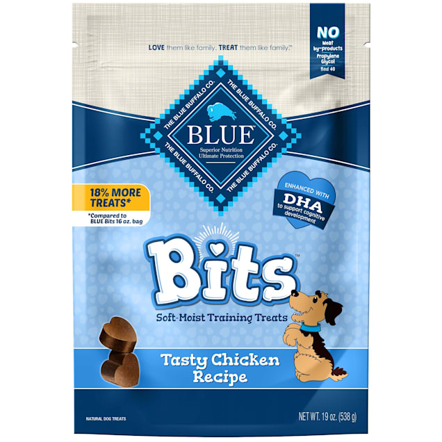 Blue Buffalo Blue Bits Chicken Recipe Natural Soft-Moist Training Dog Treats, 19 oz. - Carousel image #1