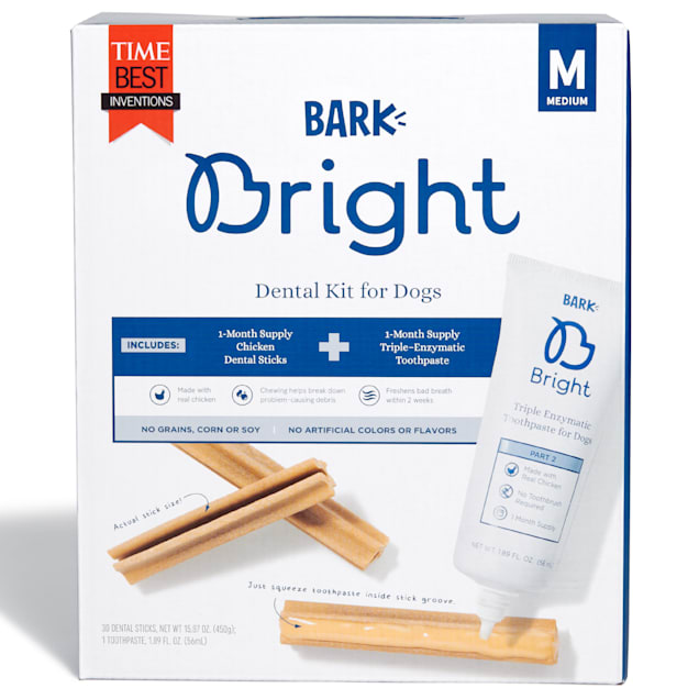 BARK Bright Medium Dental Kit for Dogs, 17.76 oz., Count of 30 - Carousel image #1