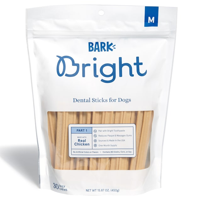 BARK Bright Dental Sticks for Medium Dogs Chews, 15.87 oz., Count of 30 - Carousel image #1