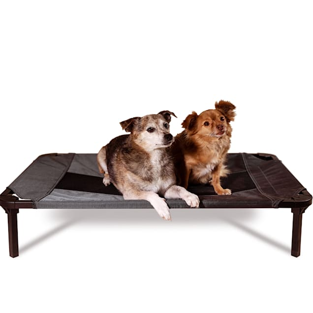 """Lucky Dog Comfort Cot Gray Elevated Bed, 30"""" L X 19.7"""" W X 7.5"""" H - Carousel image #1"""