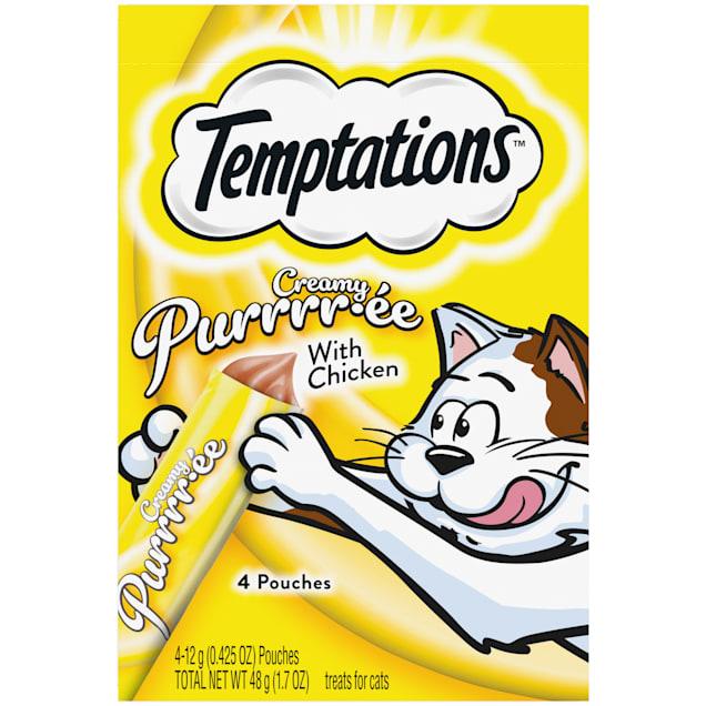 Temptations Creamy Purrrr-ee with Chicken Cat Treats, 1.7 oz. - Carousel image #1