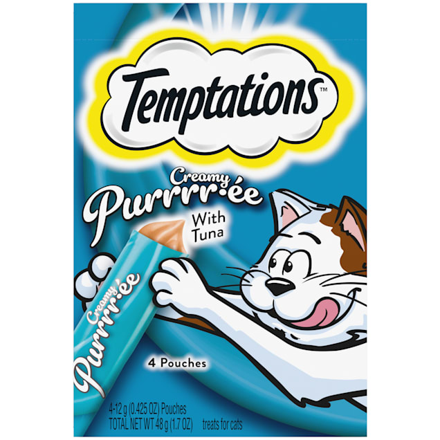 Temptations Creamy Purrrr-ee with Tuna Cat Treats, 1.7 oz. - Carousel image #1