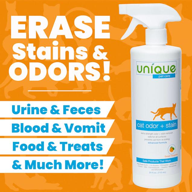 Unique Pet Care Advanced Cat Odor + Stain Remover Ready To Use, 24 fl. oz. - Carousel image #1