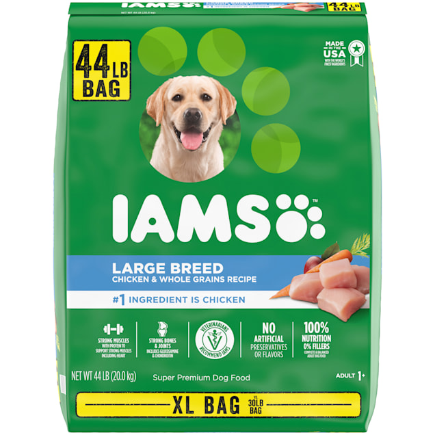 Iams Proactive Health with Chicken & Whole Grain Recipe Large Breed Dry Dog Food, 44 lbs. - Carousel image #1