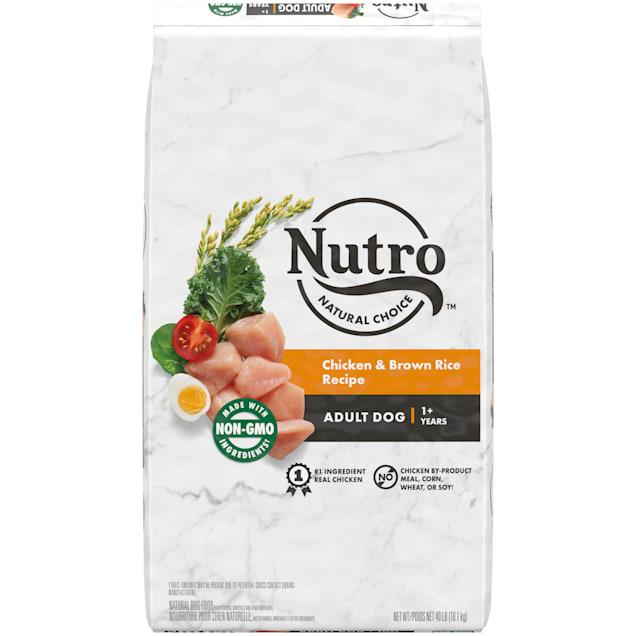 Nutro Natural Choice Chicken & Brown Rice Recipe Adult Dry Dog Food, 40 lbs. - Carousel image #1