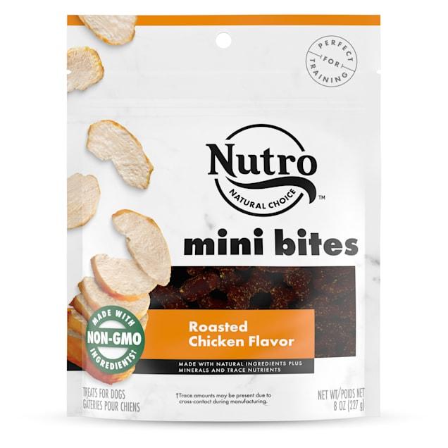 Nutro Roasted Chicken Flavor Mini Bites Dog Treats, 8 oz. - Carousel image #1
