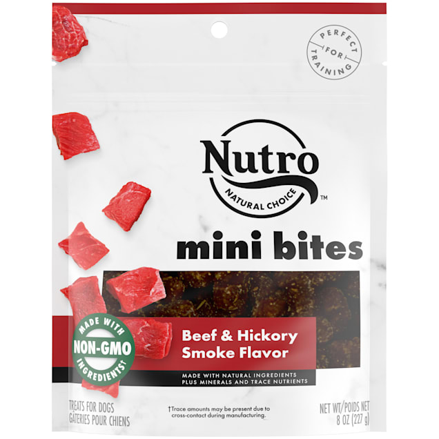 Nutro Beef & Hickory Smoke Flavor Mini Bites Dog Treats, 8 oz. - Carousel image #1