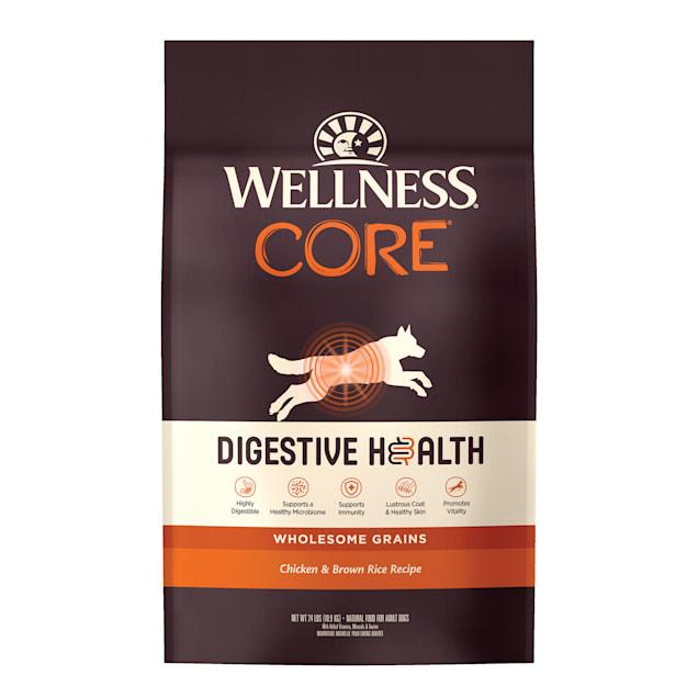 Wellness CORE Digestive Health Chicken & Brown Rice Dry Dog Food, 24 lbs. - Carousel image #1