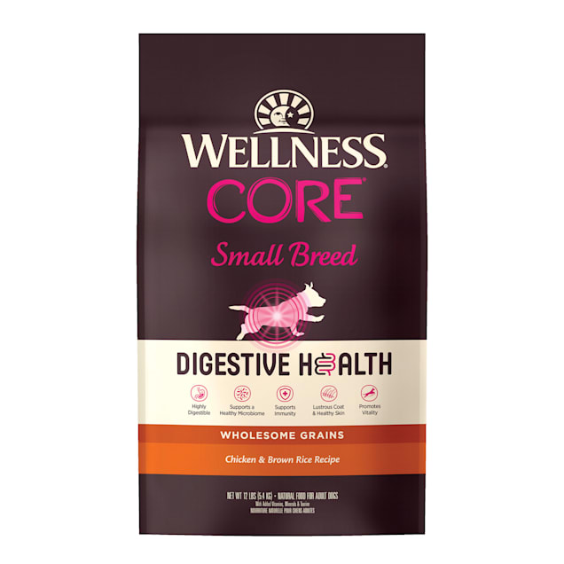 Wellness CORE Digestive Health Small Breed Chicken & Brown Rice Dry Dog Food, 12 lbs. - Carousel image #1