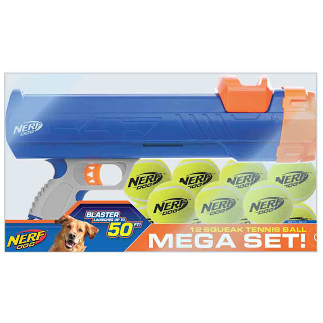 Nerf Blaster Barrage Gift Set Toys for Dogs, Medium, Pack of 12 - Carousel image #1