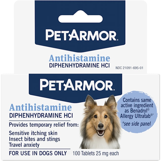PetArmor Allergy Relief Tablets for Dogs, Count of 100 - Carousel image #1