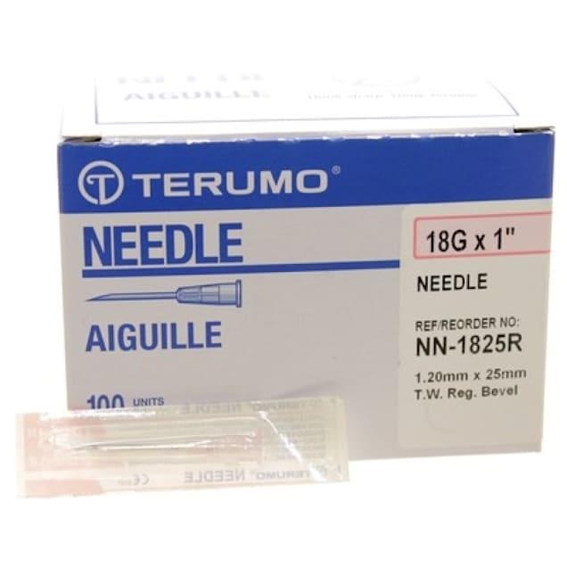 "Terumo 18g x 1"" Hypodermic Needles, Box of 100 - Carousel image #1"