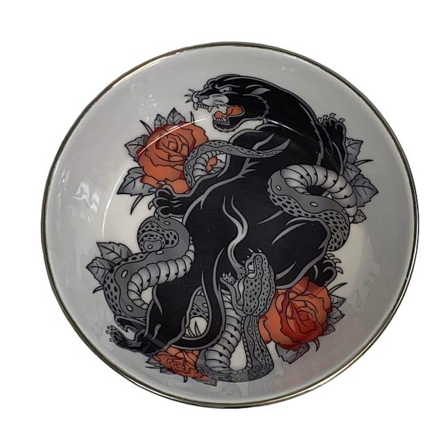 Multipet International Komodo Reptile Bowl with Panther Design, Large - Carousel image #1