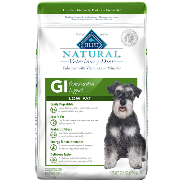 Blue Buffalo Natural Veterinary Diet GI Gastrointestinal Support Low Fat Dry Dog Food, 22 lbs. - Carousel image #1