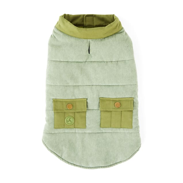 YOULY The Trailblazer Olive Corduroy Dog Vest, XX-Small - Carousel image #1
