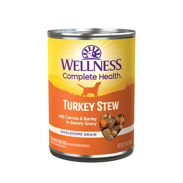 Wellness Turkey Stew with Barley & Carrots Canned Dog Food, 12.5 oz., Case of 12 - Carousel image #1