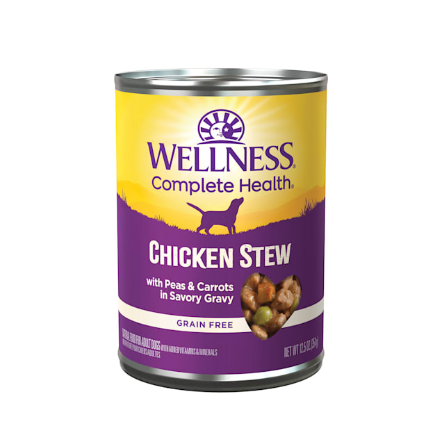 Wellness Chicken Stew with Peas & Carrots Canned Dog Food, 12.5 oz., Case of 12 - Carousel image #1